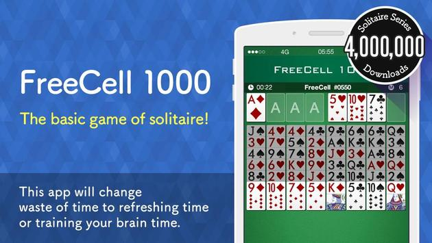FreeCell 1000 - Solitaire Game poster