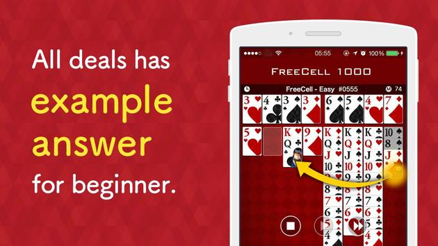 FreeCell 1000 - Solitaire Game screenshot 3