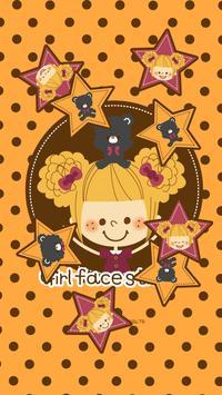 Girl's Face Sticker Shake1 poster