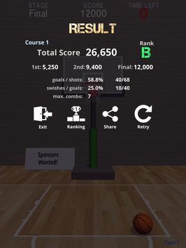 Swish Shot! Basketball Shooting Game apk screenshot