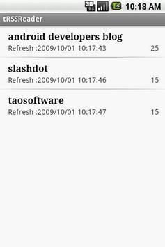 tRSSReader screenshot 1