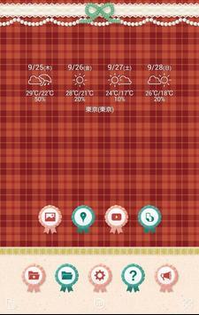 壁紙 きせかえ無料【リボンタータンチェック】buzzHOME apk screenshot