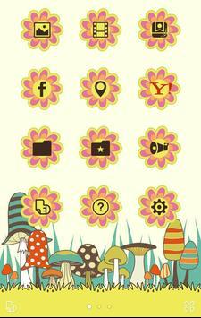 壁紙画像きせかえ無料【レトロおしゃれキノコ】buzzHOME screenshot 1