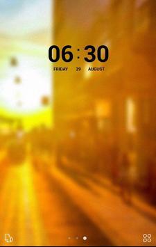 壁紙画像 きせかえ無料【夕焼けオレンジ】 buzzHOME apk screenshot