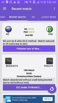 CricScore - Live cricket score screenshot 3