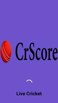 CricScore - Live cricket score poster
