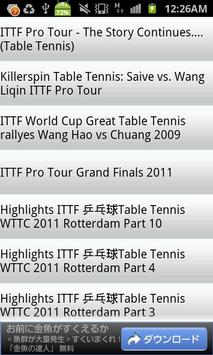 Table Tennis Videos poster