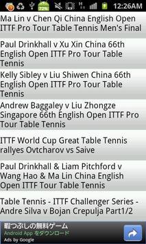 Table Tennis Videos apk screenshot