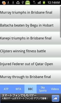 Tennis Information apk screenshot