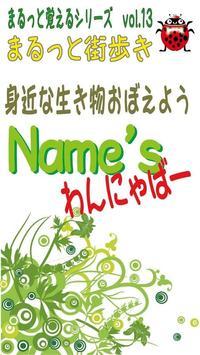 Names/わんにゃばー いろんな名前覚えよう(犬・猫・鳥) poster