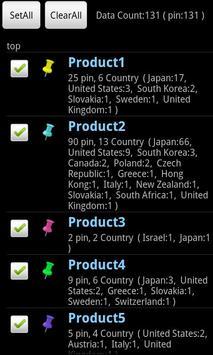 Map and Pins (CSV file viewer) screenshot 1