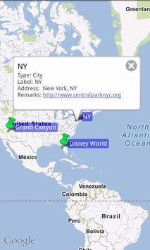 Map and Pins (CSV file viewer) screenshot 2