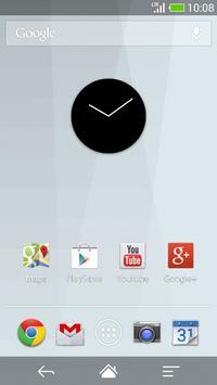Flat design clock B -MeClock poster