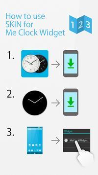 Flat design clock B -MeClock screenshot 1