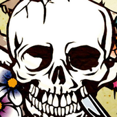a1-flowered SKULL icon