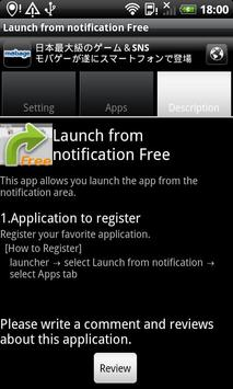 Launch from notification Free poster