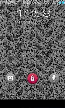 きせかえ壁紙☆Monotone Paisley apk screenshot