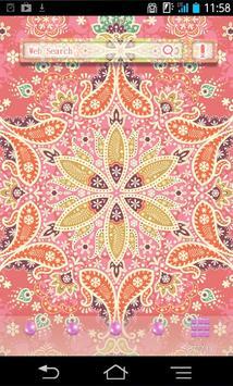 きせかえ壁紙☆Soft Pink Paisley poster