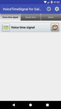 VoiceTimeSignal for Galaxy poster