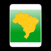 Blank Map, Brazil icon