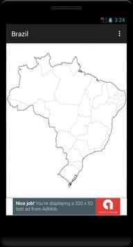Blank Map, Brazil poster