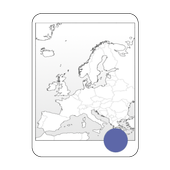 Blank Map, Europe icon
