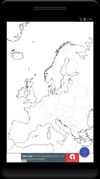 Blank Map, Europe poster