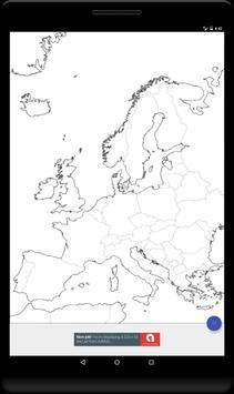 Blank Map, Europe apk screenshot