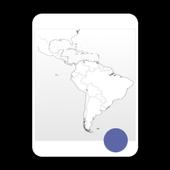 Blank Map, Latin America icon
