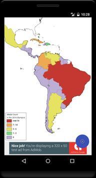 Blank Map, Latin America poster