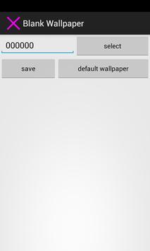 Blank Wallpaper screenshot 1