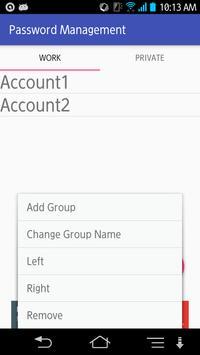 Password Management capture d'écran 1