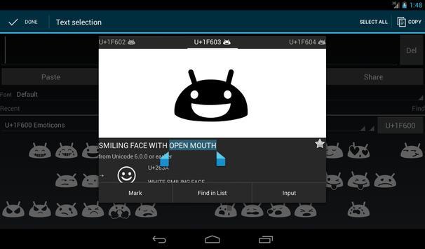Unicode Pad imagem de tela 8