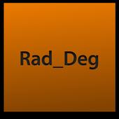 radian degree conversion app icon