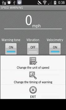 SPEED WARNING apk screenshot