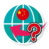 Chinese word pop-up quiz icon