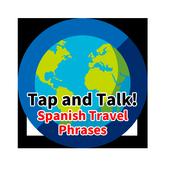 Spanish travel phrases icon