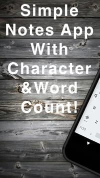 Word Count Notes poster