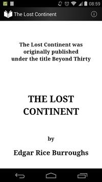 The Lost Continent by Edgar Rice Burroughs poster