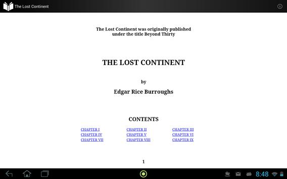The Lost Continent by Edgar Rice Burroughs apk screenshot
