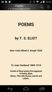 Poems by T. S. Eliot poster