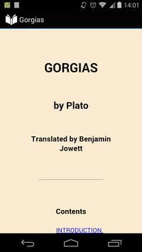 Gorgias by Plato poster