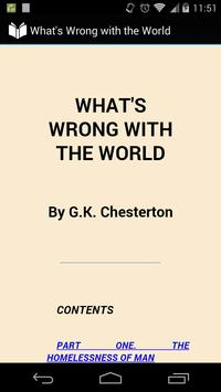 What's Wrong with the World poster