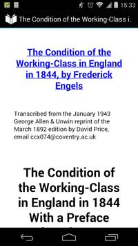 Condition of the Working-Class in England in 1844 poster