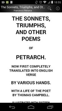 Poems of Petrarch poster