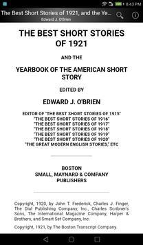 The Best Short Stories of 1921 screenshot 4