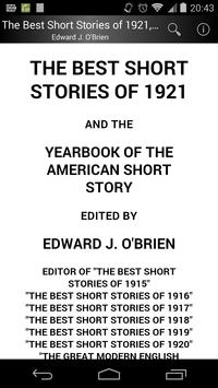 The Best Short Stories of 1921 poster