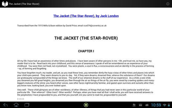 The Jacket (The Star-Rover) apk screenshot