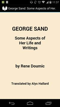George Sand poster