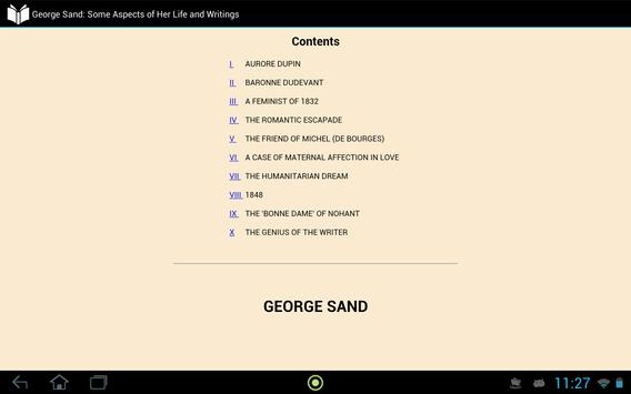 George Sand apk screenshot
